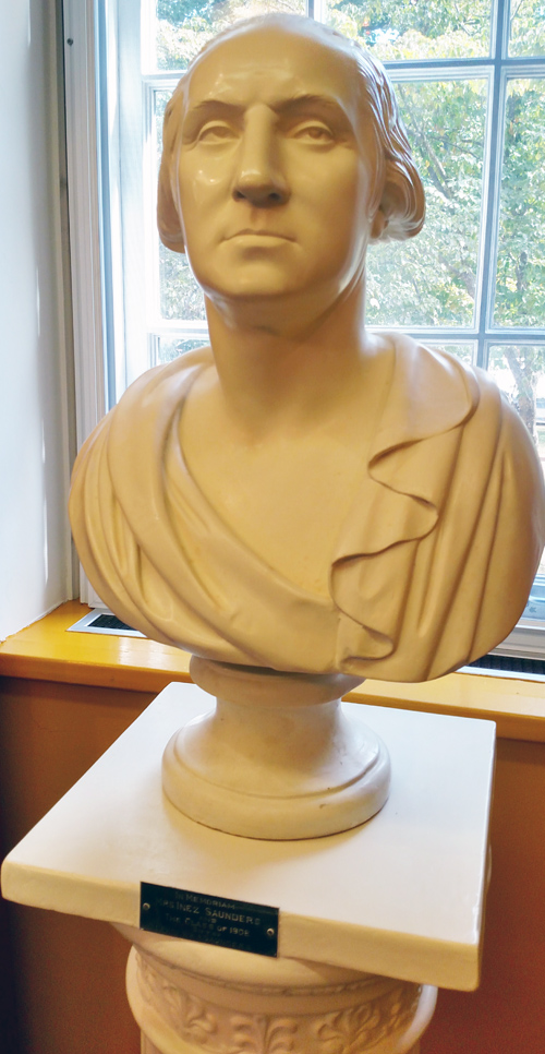 Saunders memorial bust