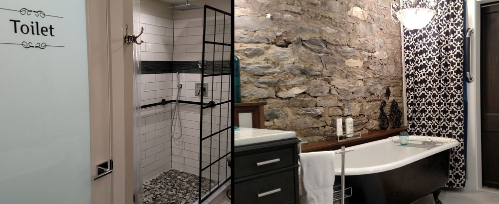 spa bathroom, Studebaker suite, Rockhaven B&B, Harpers Ferry
