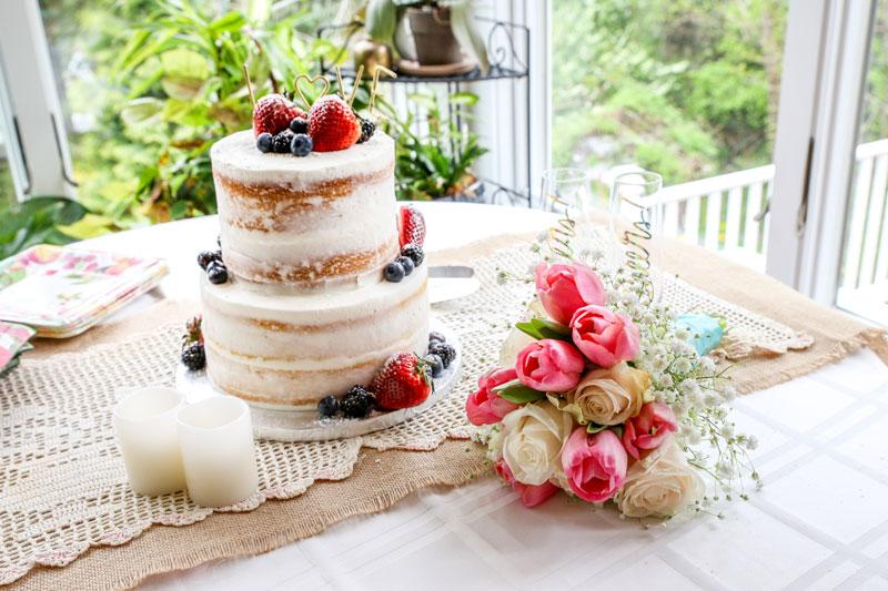 Wedding cake, reception. Rockhaven B&B, Harpers Ferry