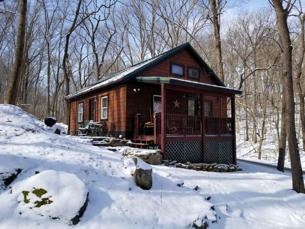 Knott Cabin in winter